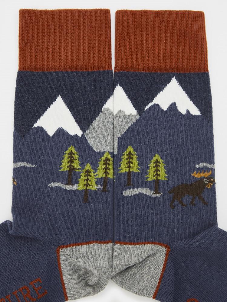 Adventure Is Calling Sock