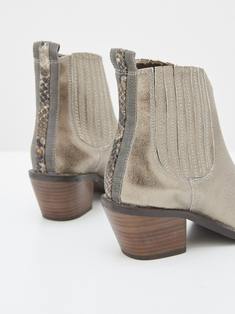 Cherry Western Ankle Boot
