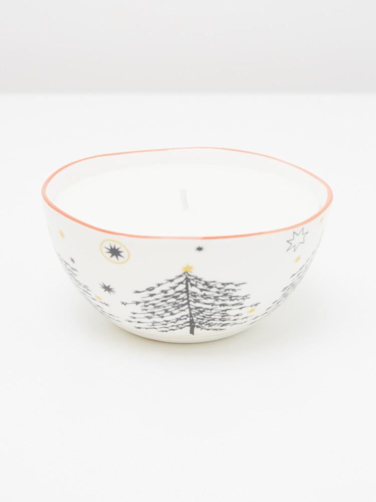 Fox Christmas Candle Bowl