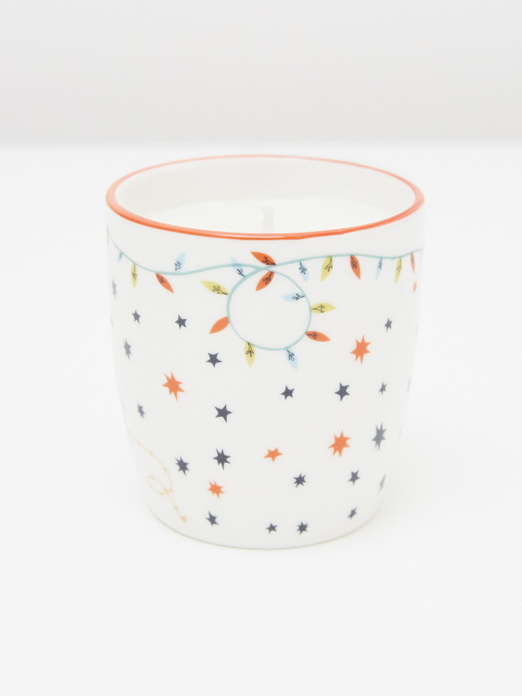 Flamingo Christmas Candle