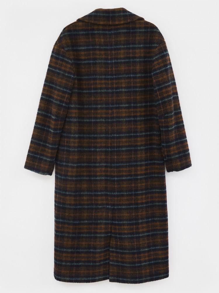 Check Midi Coat