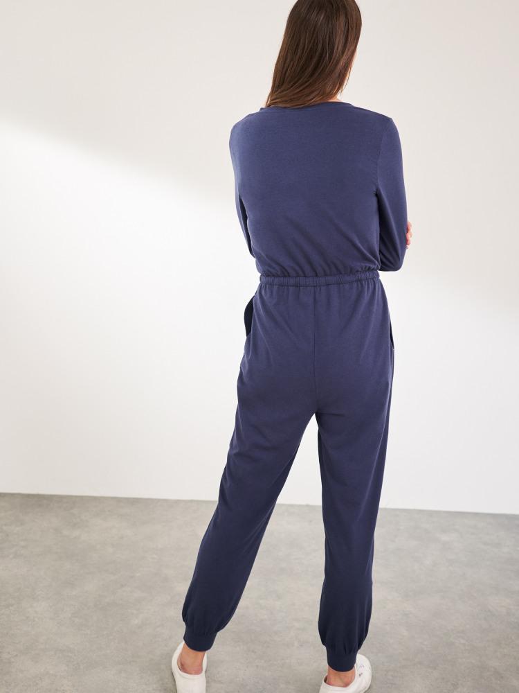 V-Neck Jersey Jumpsuit