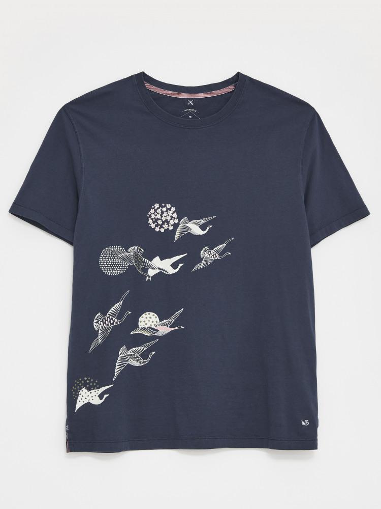 Kyoto Bird Organic Graphic Tee