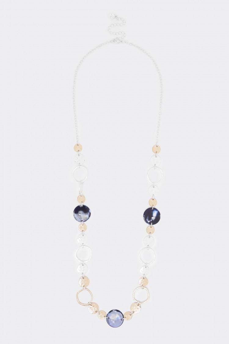 Mixed Circle Tortoiseshell Necklace