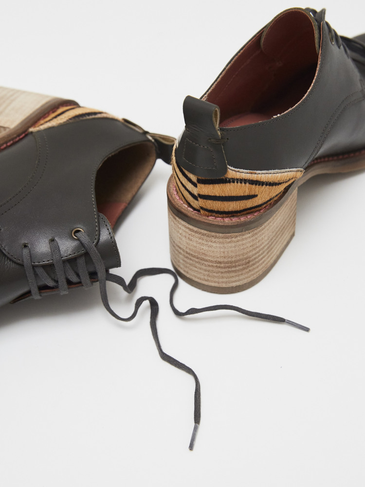 Chunky Lace Up Shoe Boot
