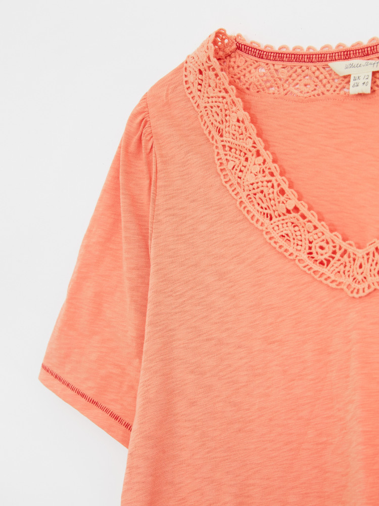 Lily Lace V Neck Tee