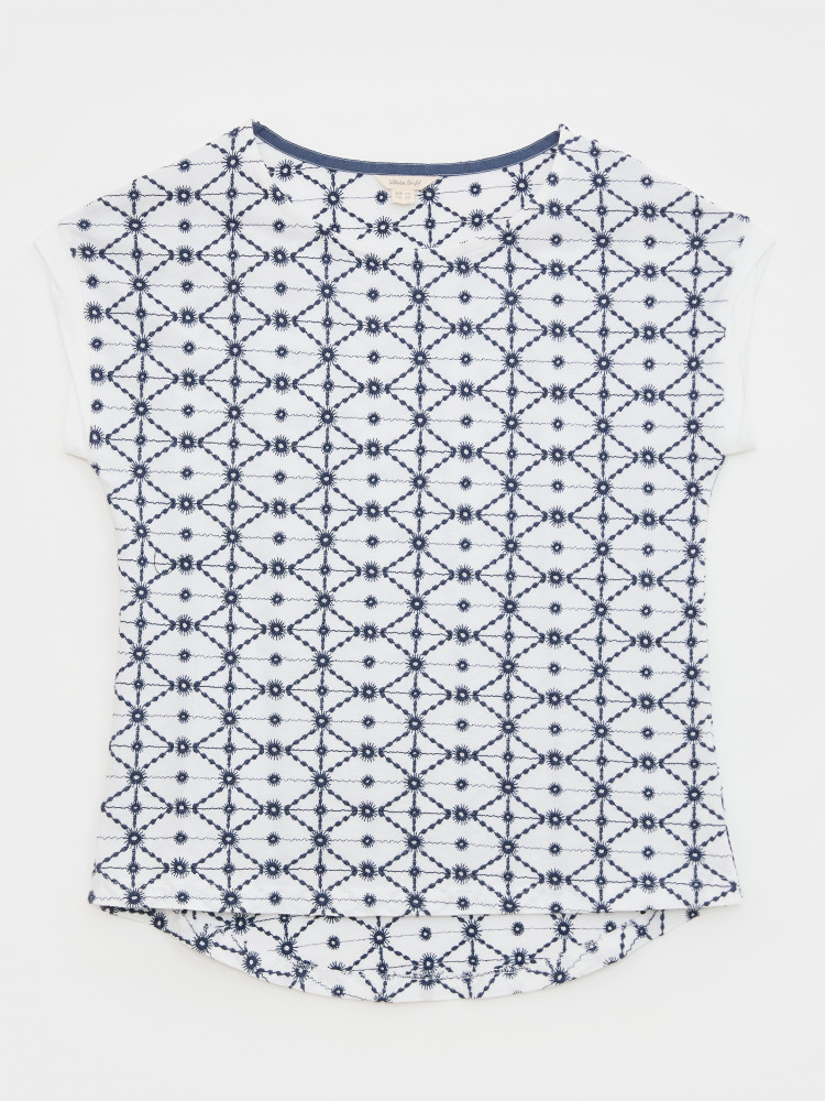 Geo Embroidered Tee