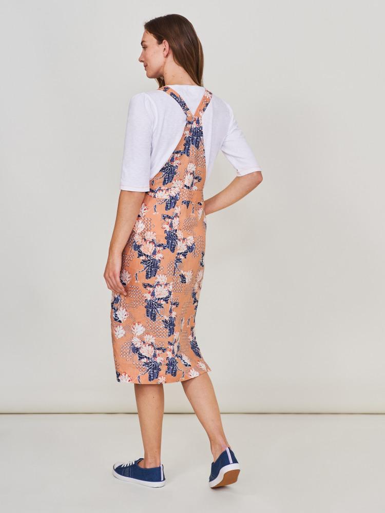 Yuki Linen Pinafore Dress