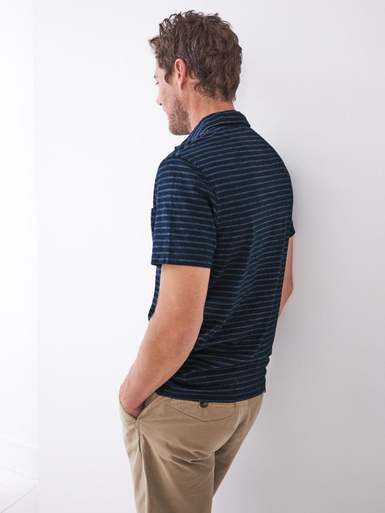 Stripe Interest Organic Polo