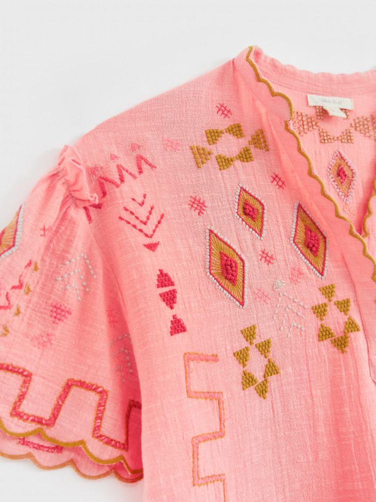 Kilim Embroidered Top