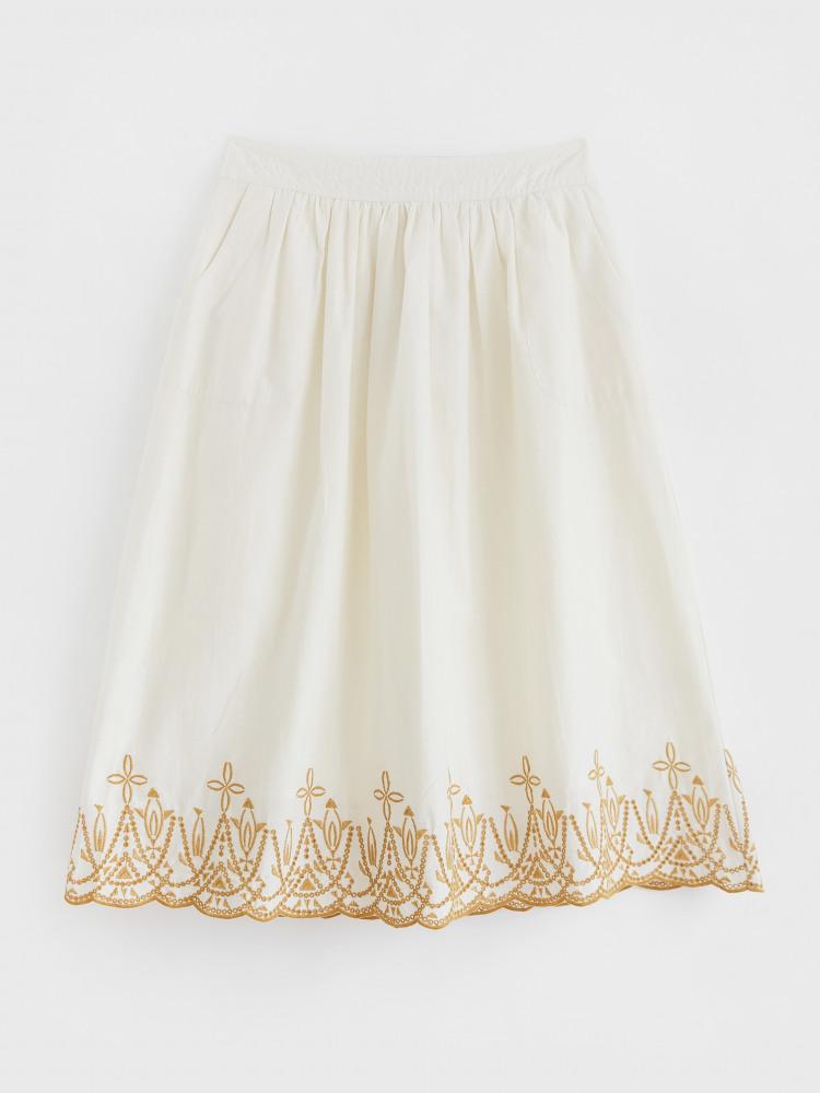 Fern Embroidered Skirt
