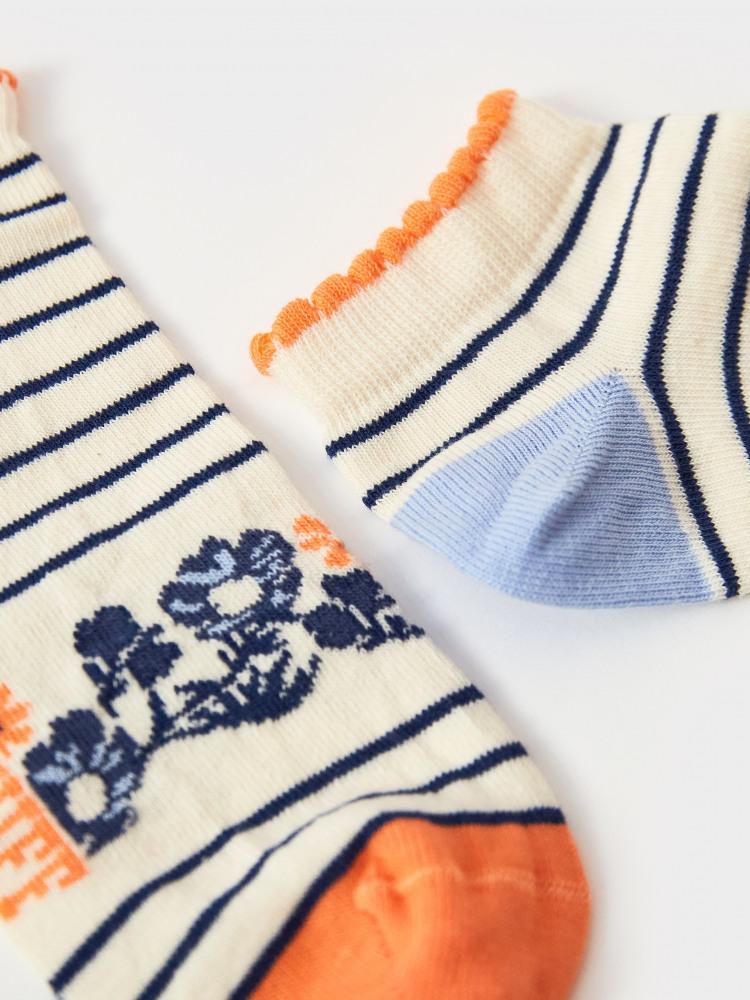 Rosie Floral Trainer Sock