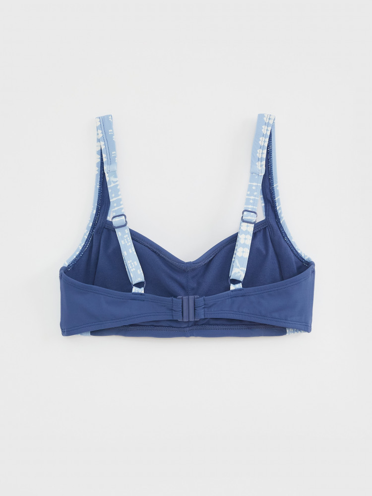 Patchwork Panel Bikini Top