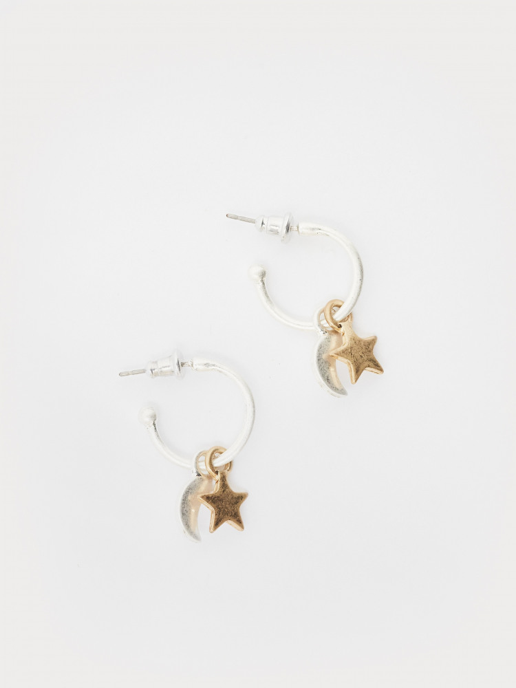 Byo Hoop Charm Earrings