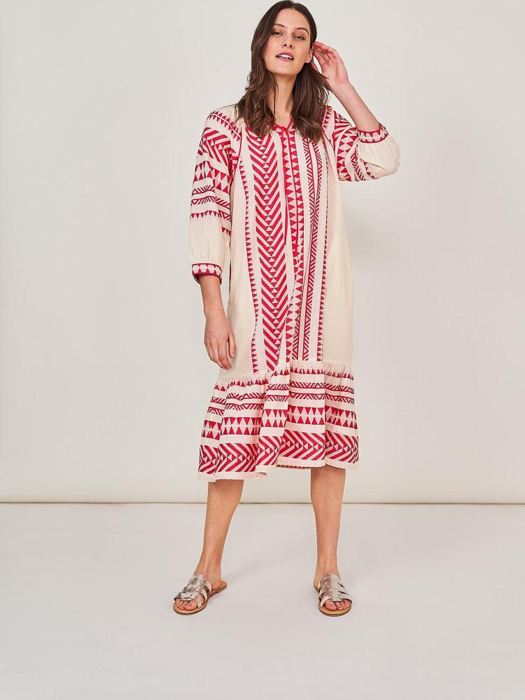 Innika Jacquard Midi Dress