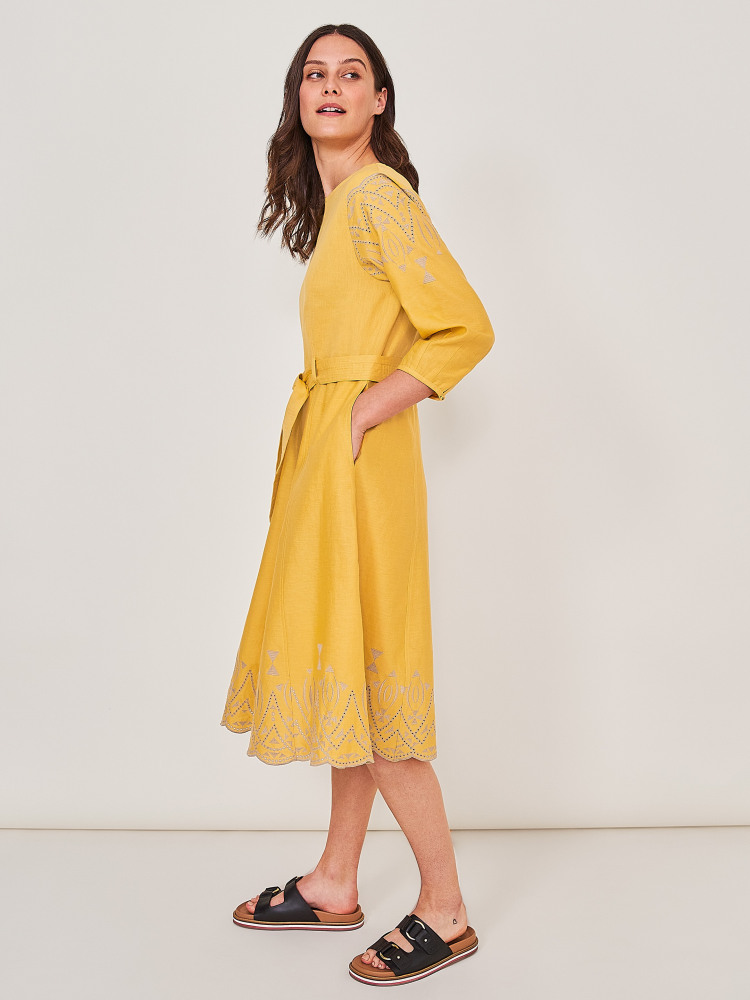 Fern Embroidered Dress
