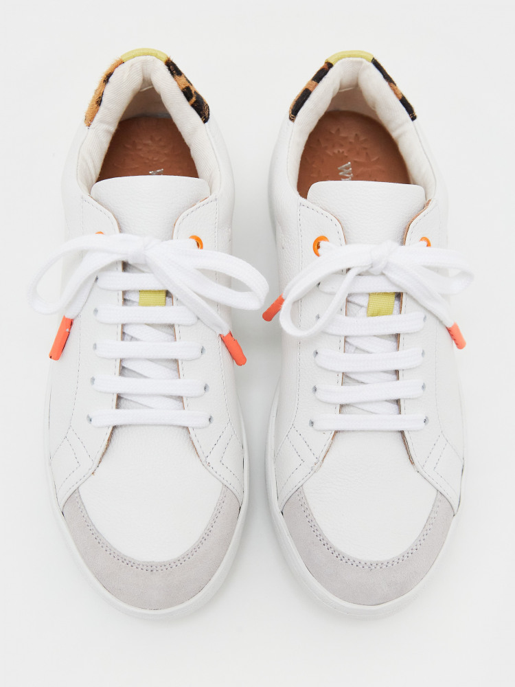 Leather Lace Up Trainer