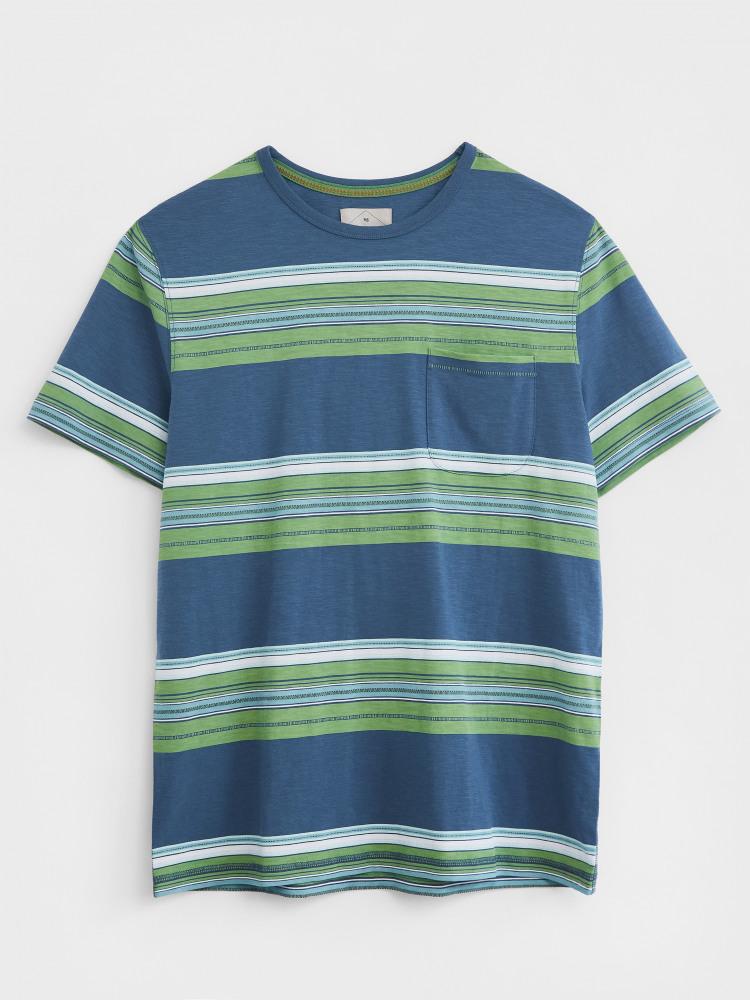 Print Slub Textured Stripe Tee