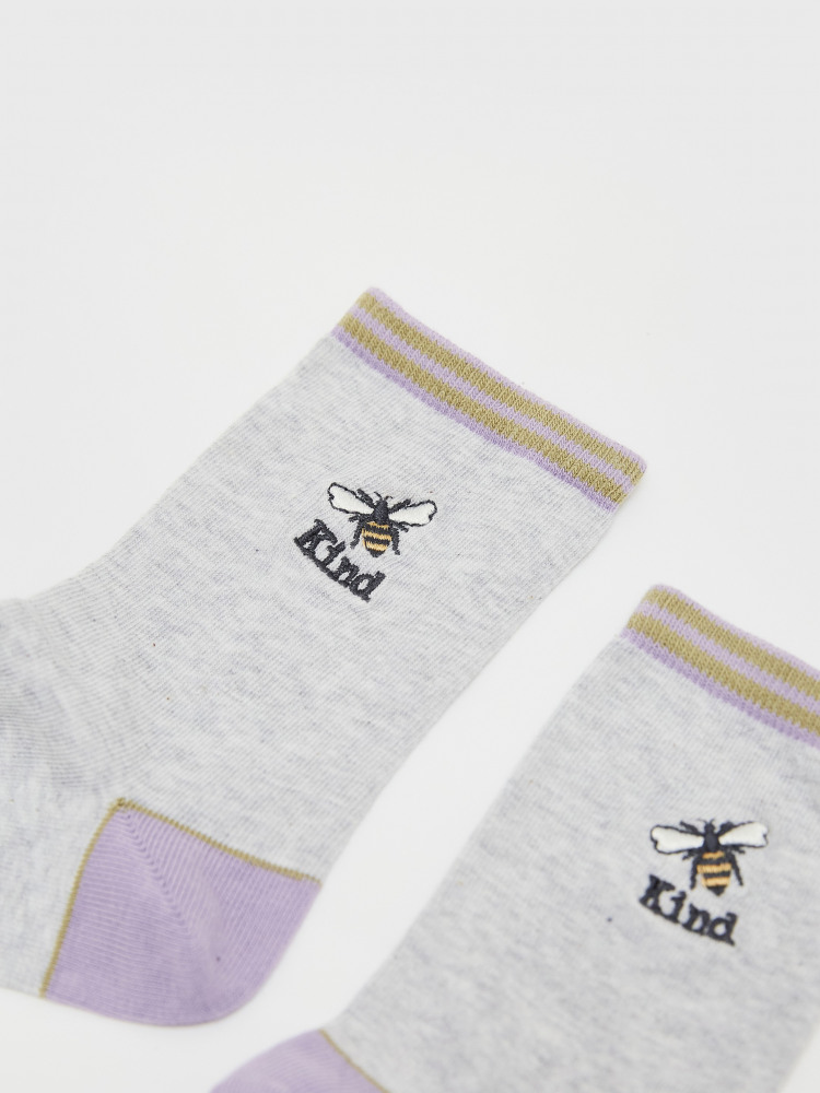 Bee Emb Sock