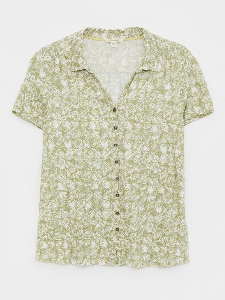 Linen Collared Jersey Shirt