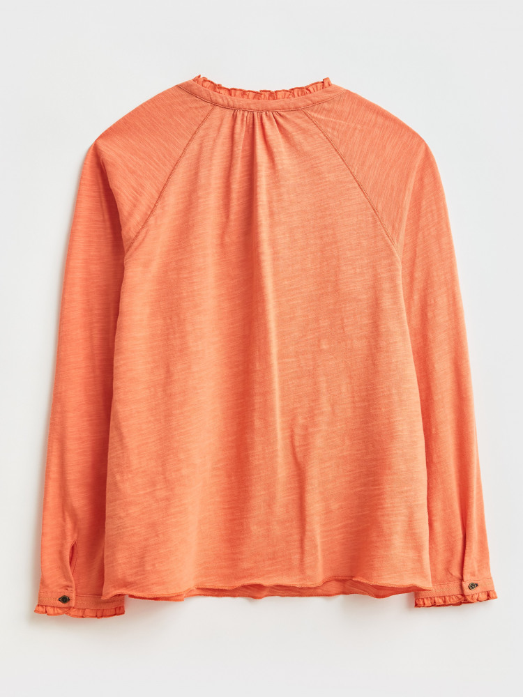 Penelope Frill Neck Jersey Top