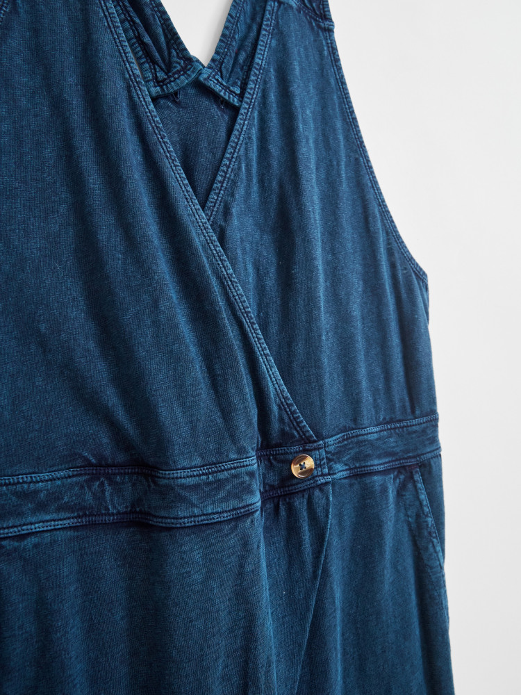 Pleat Front Jersey Dungaree