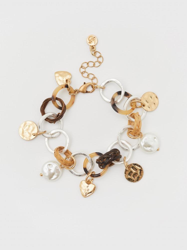 Wicker Heart Charm Bracelet