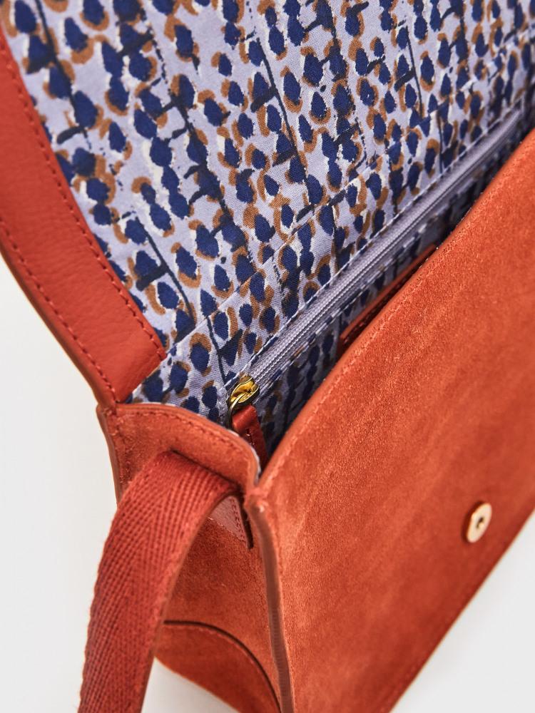 Eve Buckle Leather Satchel