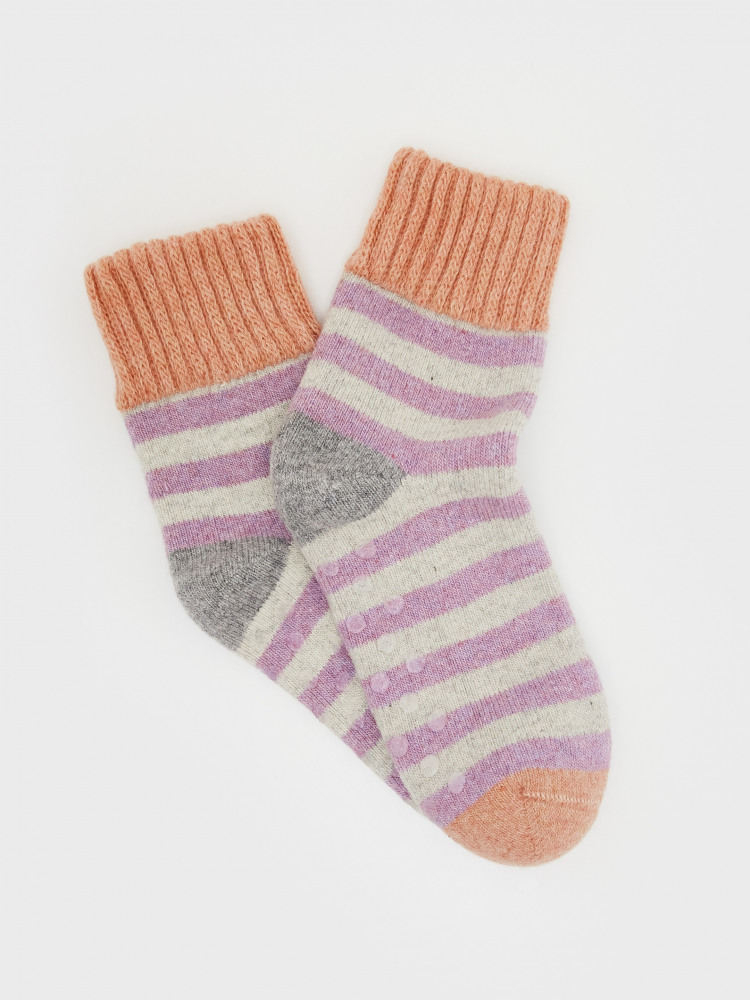 Stripe Loopback Cosy Socks