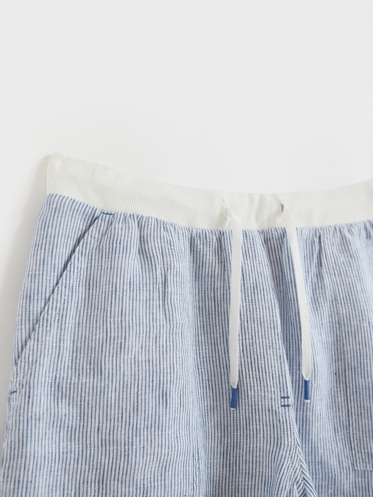 Aria Stripe Linen Short