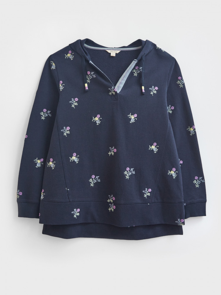 Emb Cotton Hooded Sweat
