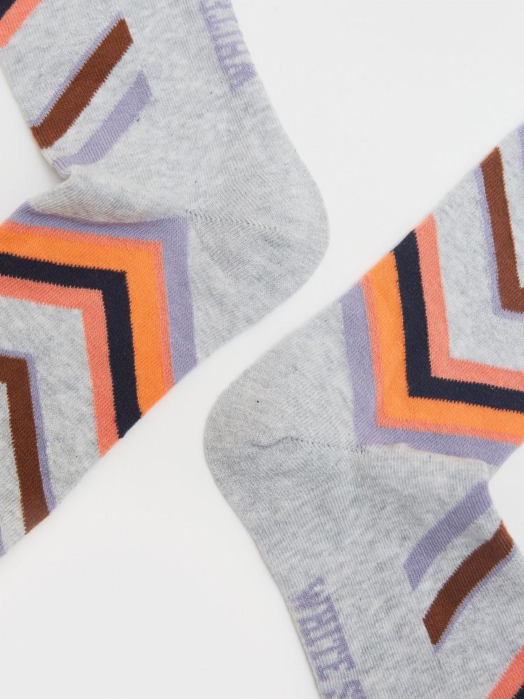 Evelyn Glitter Chervon Sock