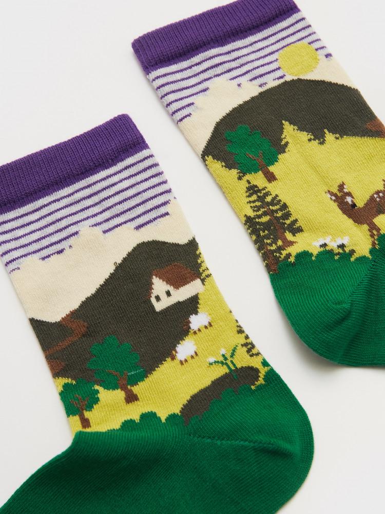Deer Scenic Sock