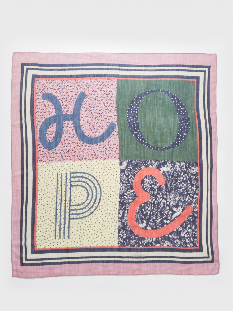 Hope Patchwork Square Scarf