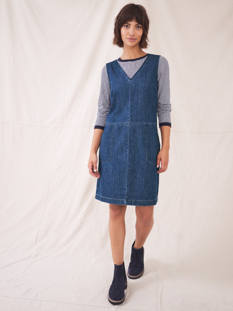 Pippa Denim Pinafore Dress