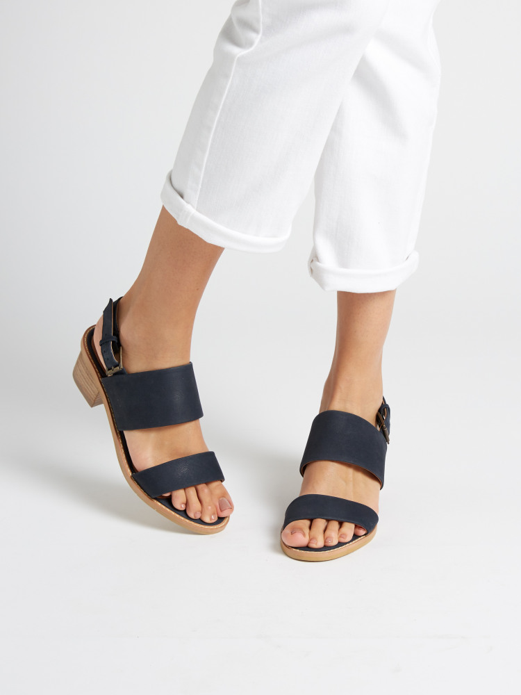 Two Part Heeled Sandal