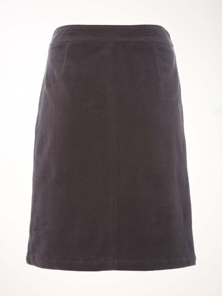 Clocktower Cord A Line Skirt