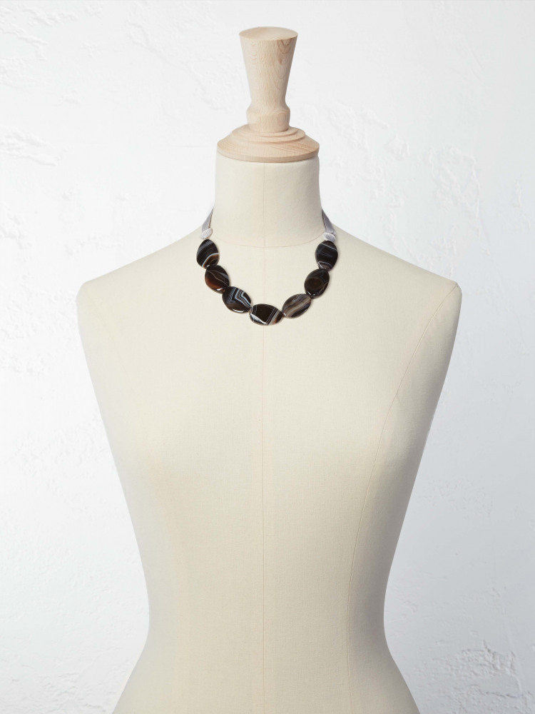 Neutral Stone Necklace
