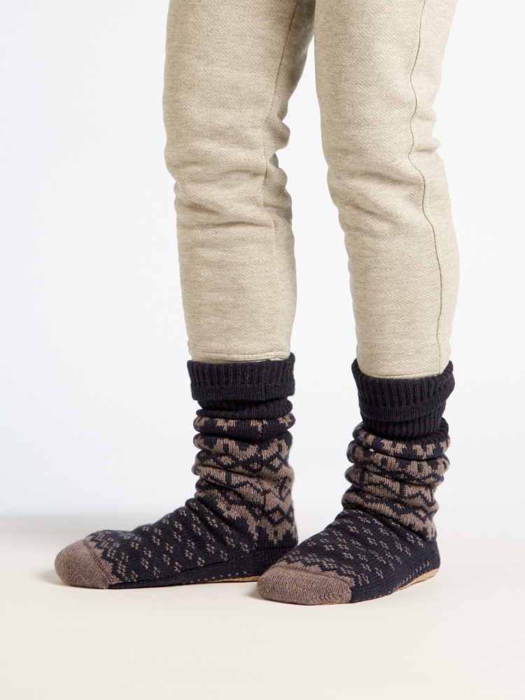 Otto Fairisle Slipper Sock NAVY