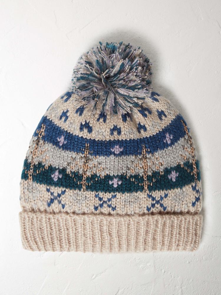 Ffion Fairisle Hat NATURAL