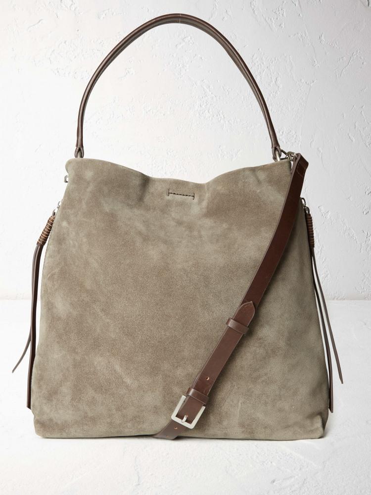 Shea Suede Hobo Bag