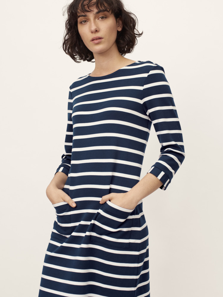 Nina Stripe Jersey Dress