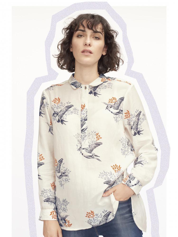 Finch Print Shirt