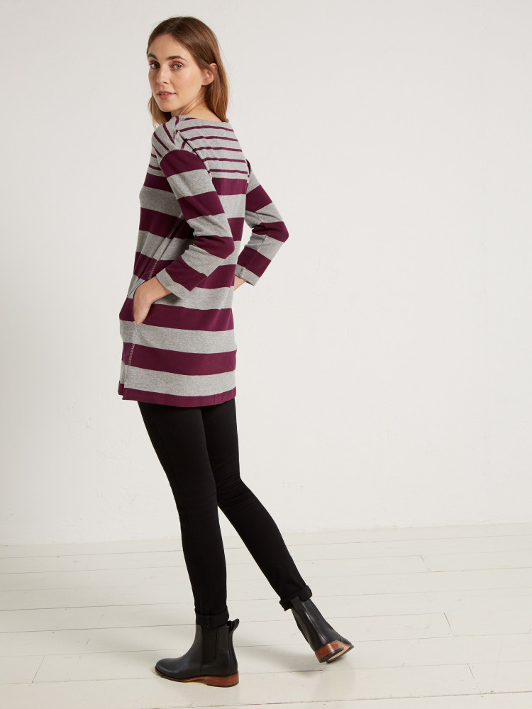 Mixed Stripe Jersey Tunic