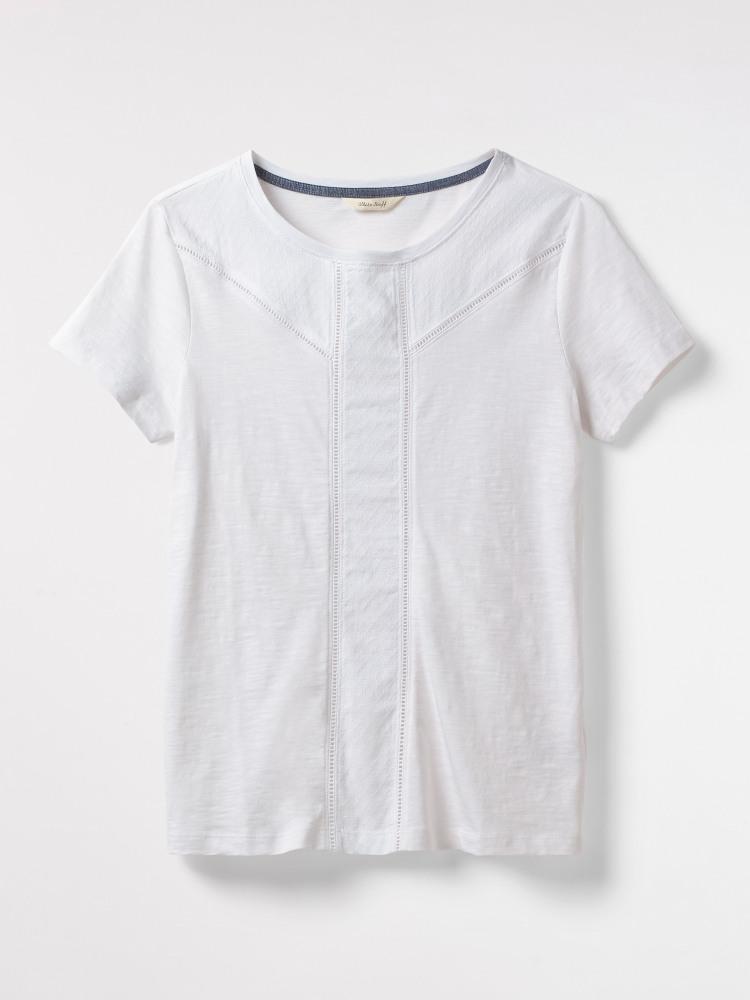 88f471f2aa Amelie Jersey Tee (White Plain)