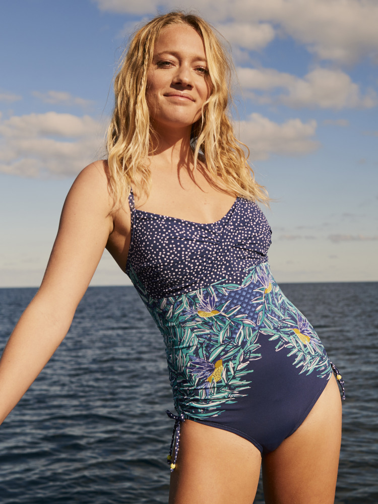 Tropic Leaf Placement Swimsuit