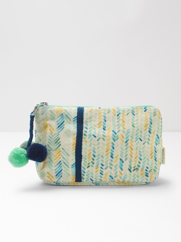 Chevron Print Make Up Bag