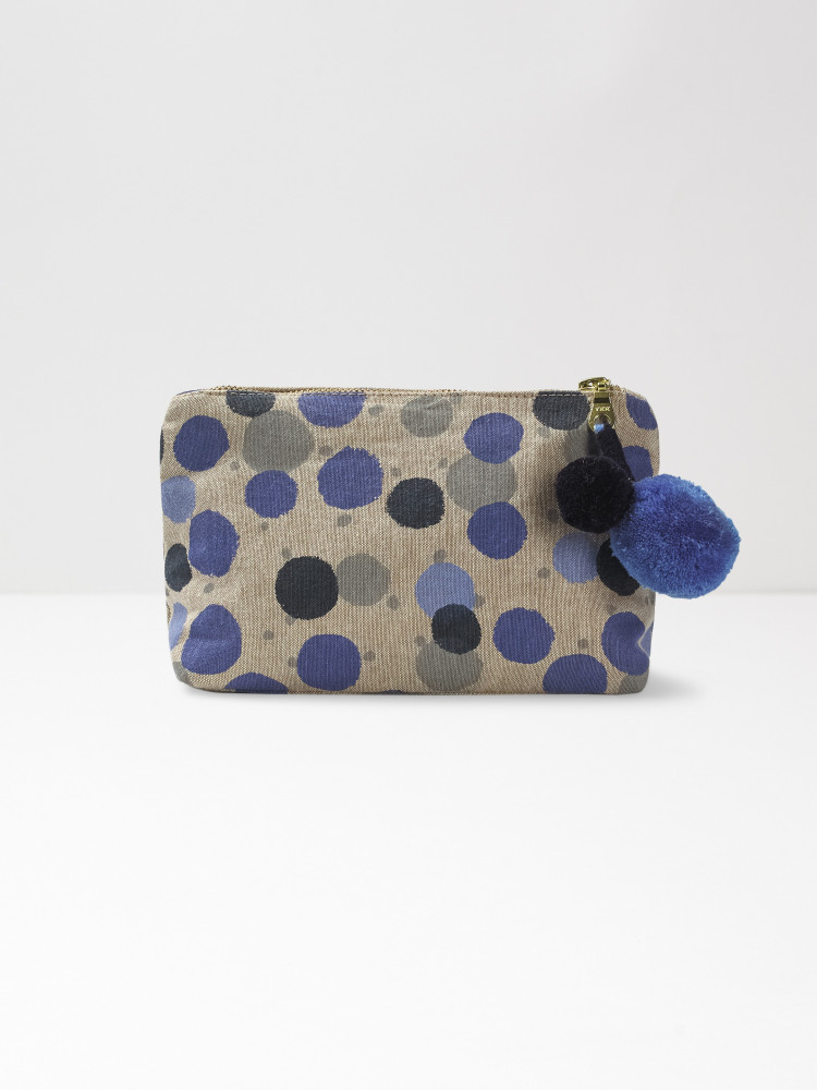 Blue Multi Spot Make Up Bag