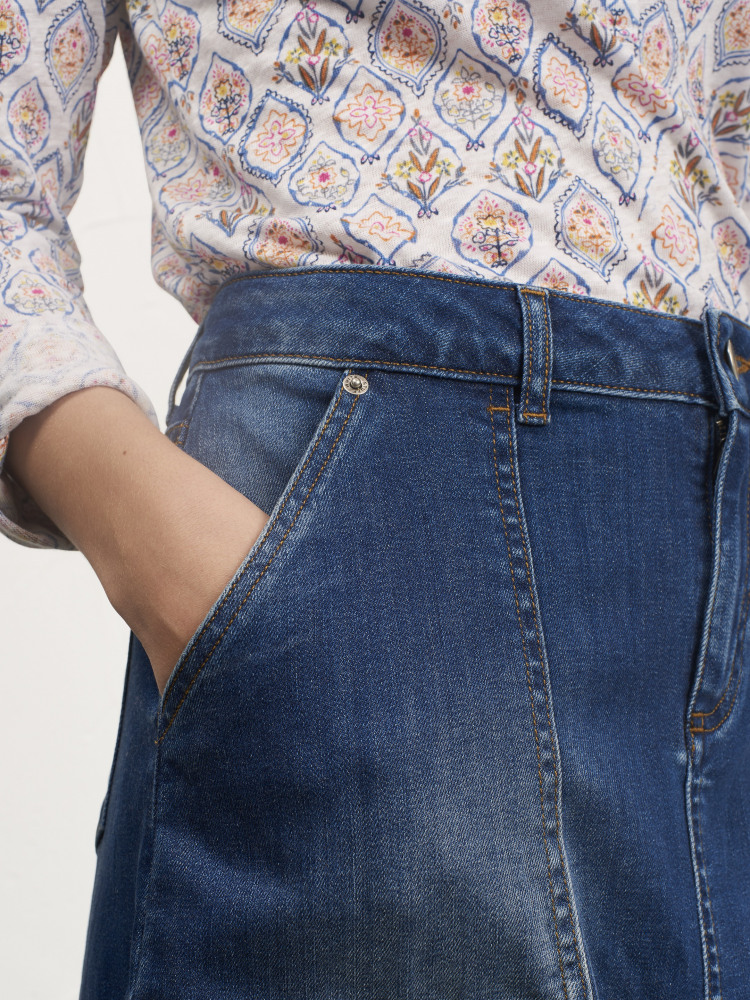 3a2e435bb5 Carpenter Denim Skirt (Denim) | White Stuff