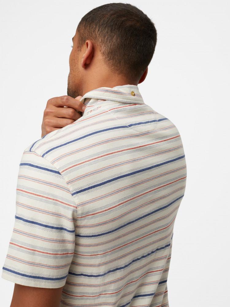Gecko Textured Stripe Polo